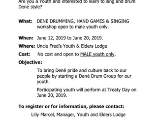 Dené Drum Making and Singing Lessons