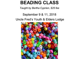 Upcoming Intro to Beading Class - Fort Chipewyan
