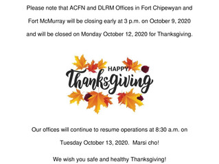 2020 Thanksgiving Office Closure - Happy Thanksgiving!