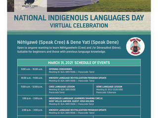 National Indigenous Languages Day - Virtual Celebration - March 31
