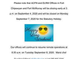 Labour Day - Office Closure
