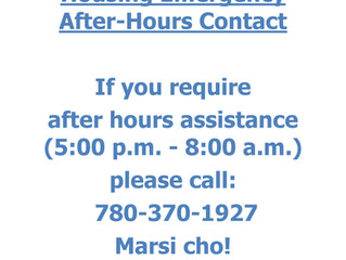 Housing Emergency After-Hours Contact