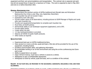 CONTRACT OPPORTUNITY- Community-Based Monitoring (CBM) Guardian