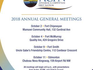 Reminder - ACFN Annual General Meetings