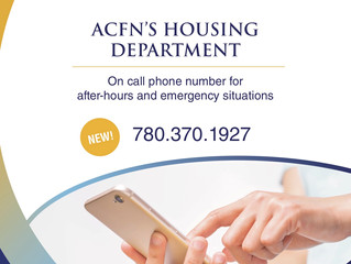 New On-Call Number for ACFN Housing - After hours & Emergency Situations
