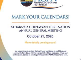 2020 ACFN Annual General Meeting - Mark Your Calendars!