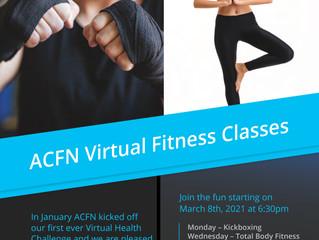 ACFN Virtual Fitness Classes