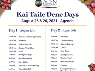 Join Us For K'ai Taile Dene Days 2021!  August 25 & 26, 2021