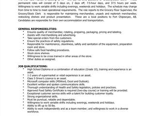 Employment Opportunity: Grocery Stock/Clerk, K'ai Tailé Market - ACFN/KTM-2021-001