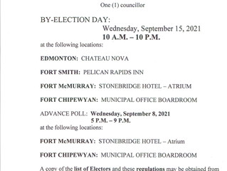 Notice of By-Election - September 15
