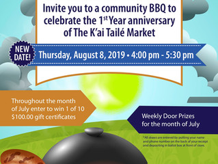 NEW DATE! K'ai Taile Market 1st Anniversary BBQ