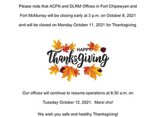 Notice of Office Closure - Thanksgiving 2021