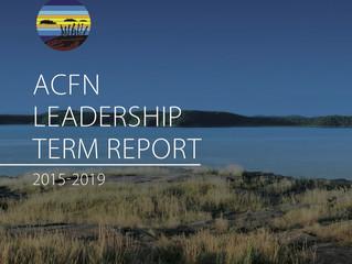 ACFN Leadership Term Report 2015-2019