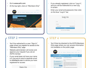 """Are you an ACFN member and want to access the """"Members Only"""" section? Check this out!"""