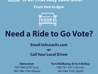 Do you need a ride to Vote on June 20th?