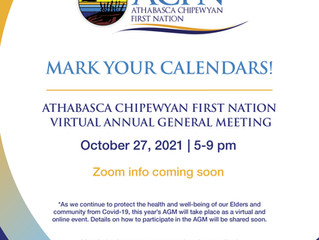 Save the Date - ACFN Virtual Annual AGM October 27, 2021