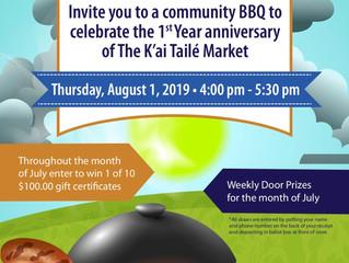 K'ai Taile Market 1st Anniversary Celebration - August 1st!