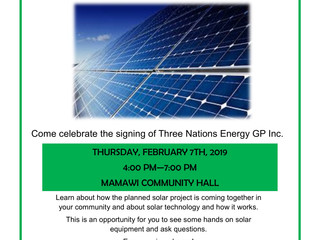 Three Nations Energy Community Celebration - Feb 7th, 4-7 p.m. @ Mamawi Hall in Fort Chipewyan