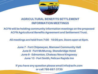 Agricultural Benefits Settlement Info Meetings