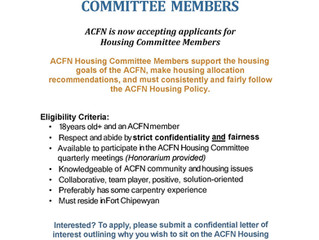 Call-out for ACFN Housing Committee Members
