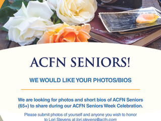 ACFN Seniors Week - Photo and Bio Submission