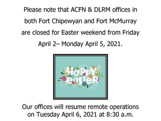 Easter 2021 ACFN Offices Holiday Closure