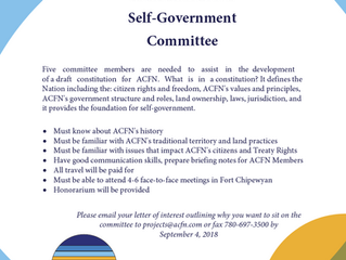 ACFN Self-Government Committee Members Needed