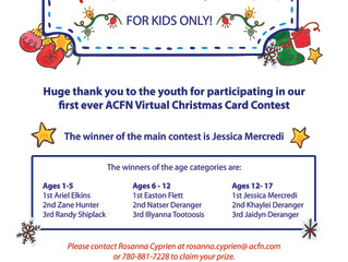 ACFN Virtual Kids-Only Christmas Card Contest Winners