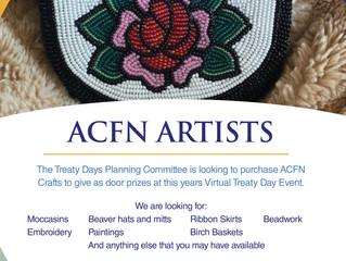 Virtual Treaty Days - Seeking ACFN Artists