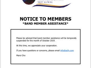 Notice to ACFN Members