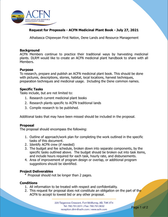 Request for Proposals:  Medicinal Plant Book - July 27, 2021
