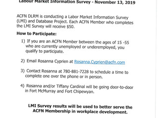 Notice to ACFN Members - Labour Market Information Survey