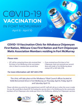COVID-19 Vaccination Clinic                      Fort McMurray