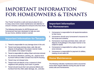 Important Information for Homeowners and Tenants