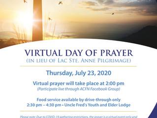 Virtual Day of Prayer - Thursday July 23