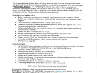 Employment Opportunity:  Membership Registrar