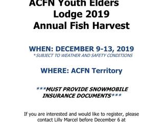2019 Annual Fish Harvest