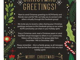 ACFN Virtual Christmas Greetings