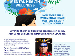 Bell Let's Talk Day with Adrian LaChance