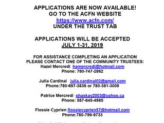 KÁI TAILÉ DENESǪŁINE TRUST 2019 Proposals-Applications Now Available