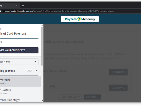 Show off your PayTech Academy certificates on LinkedIn