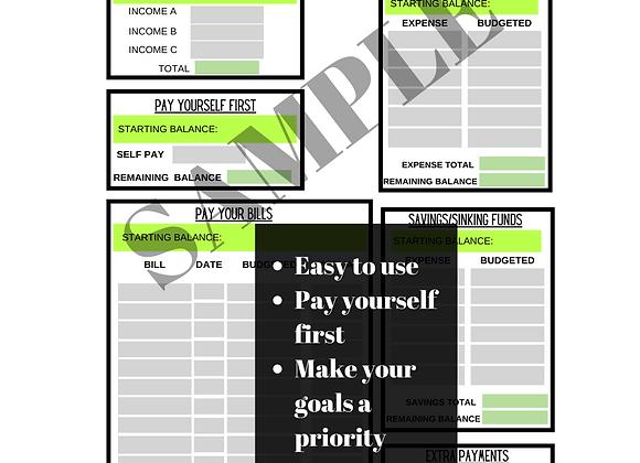 The Money & Momming Budget Sheet