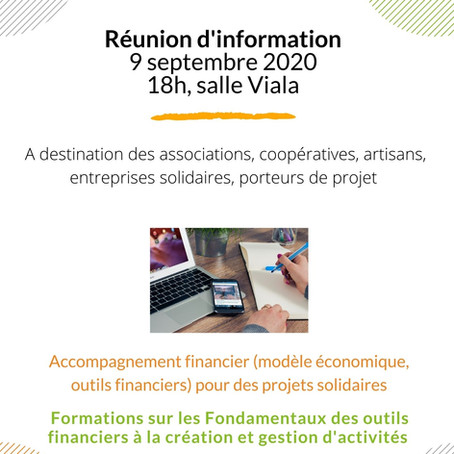 Réunion d'information à Lasalle, Centre Viala le 9 octobre 2020
