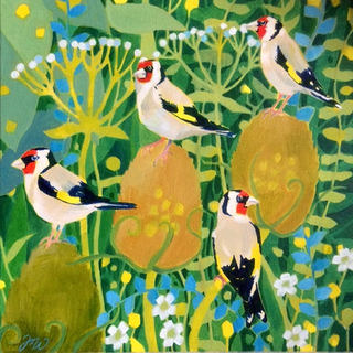 A Charm of Goldfinches