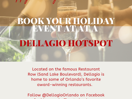 Book Your Holiday Event at a Dellagio Hot Spot