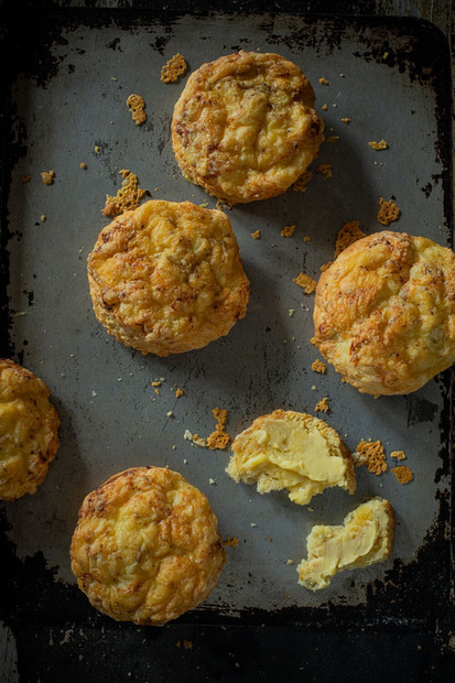 Three cheese scones