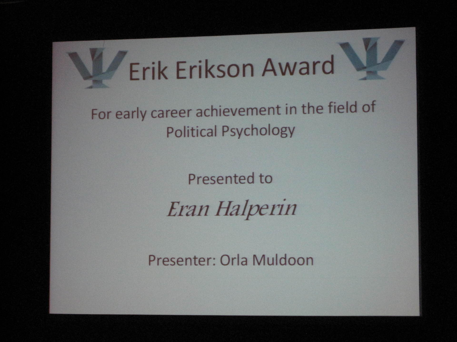 The Erikson Award Ceremony