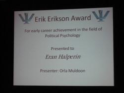 The Erikson Award Ceremony