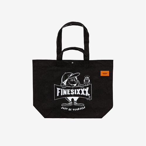 Finesickboy Eco 2way Tote Bag -Black