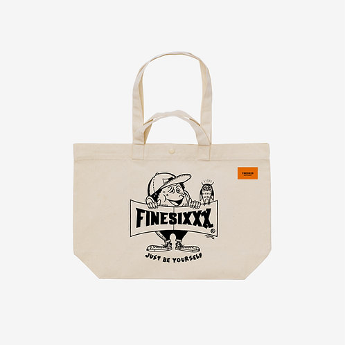Finesickboy Eco 2way Tote Bag - Ivory